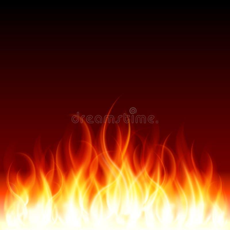 烧伤火火焰 库存例证