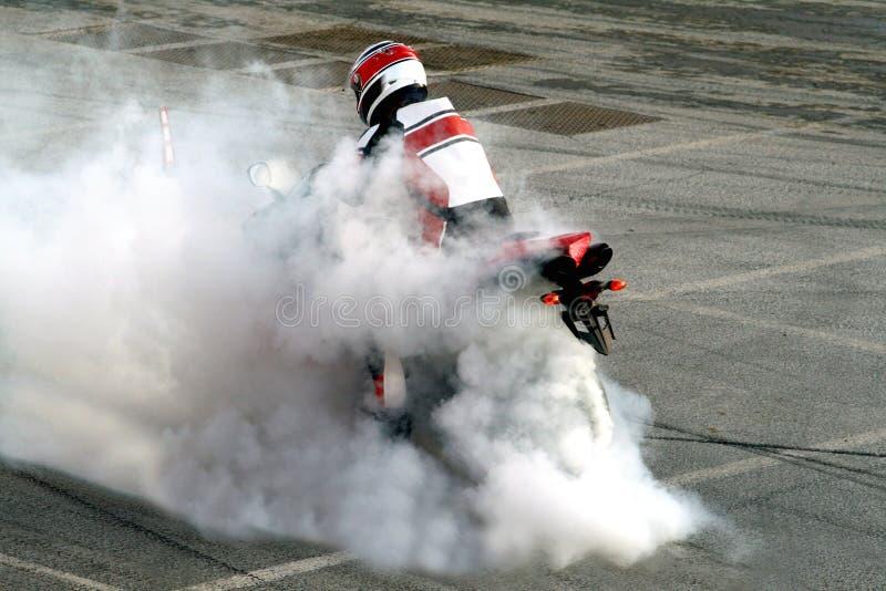 烧坏摩托车 免版税库存照片