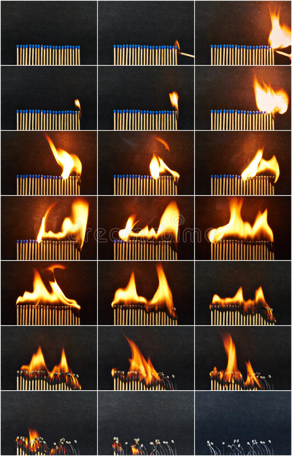 烧坏 图库摄影