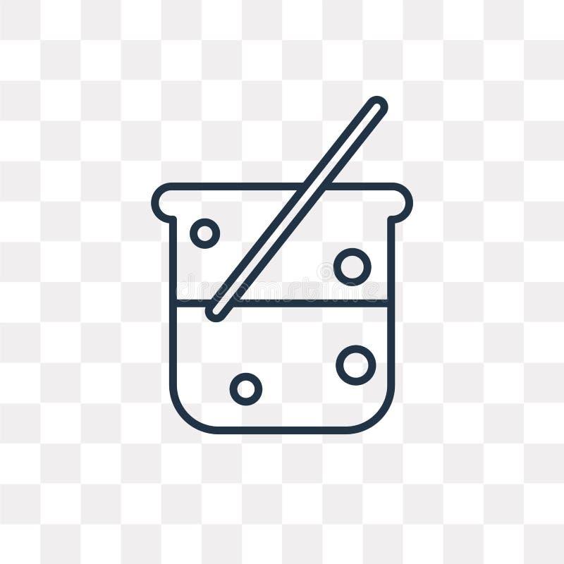 烧杯在透明背景隔绝的传染媒介象,线性是 向量例证