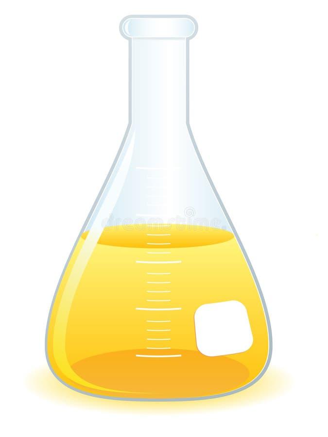烧杯eps实验室科学 库存例证