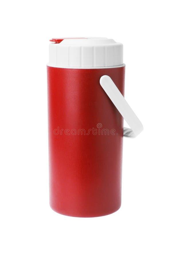 烧瓶塑料红色 图库摄影