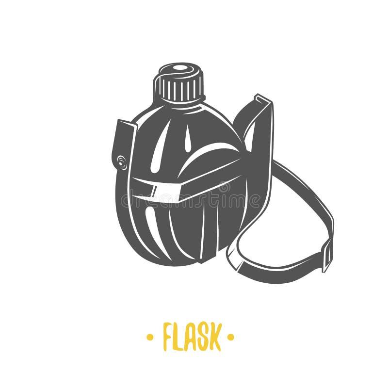 烧瓶 黑白例证 库存例证