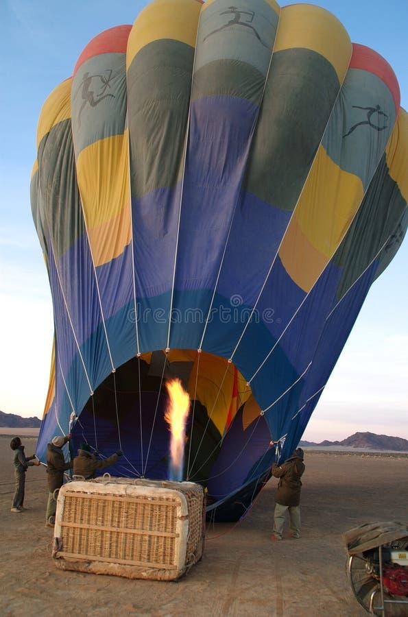 烧的气球  免版税库存照片