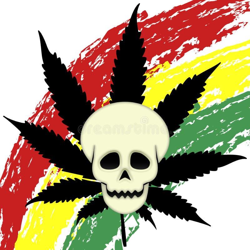 热切的大麻 向量例证