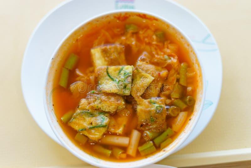 热和酸泰国咖喱 免版税库存图片