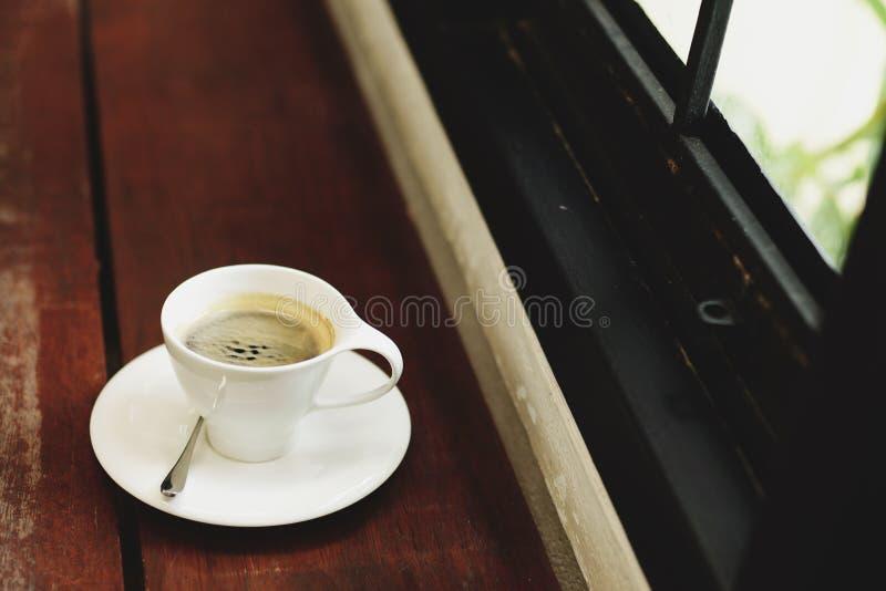 热咖啡的浓咖啡 图库摄影