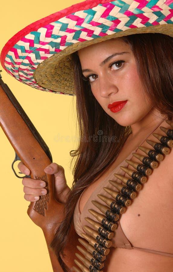 热墨西哥罪犯 免版税库存照片