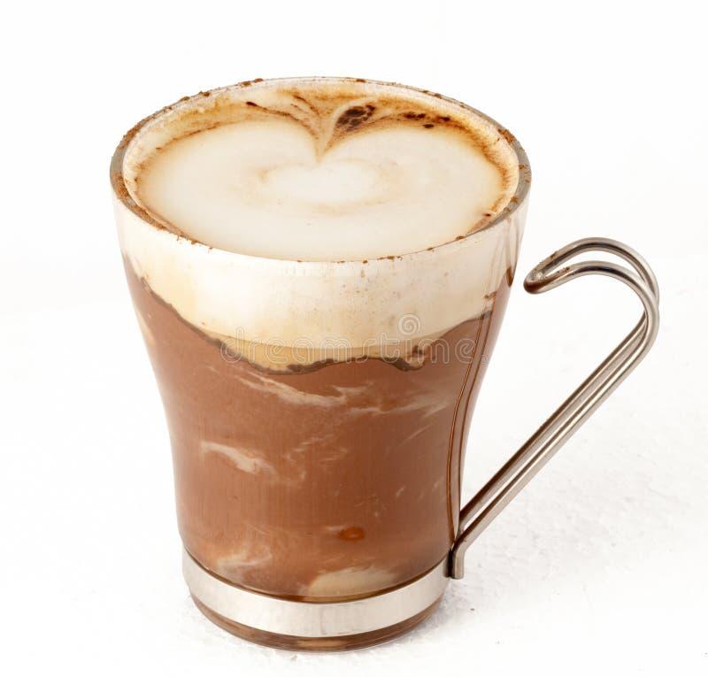 热奶咖啡杯子图画浮渣 免版税库存照片