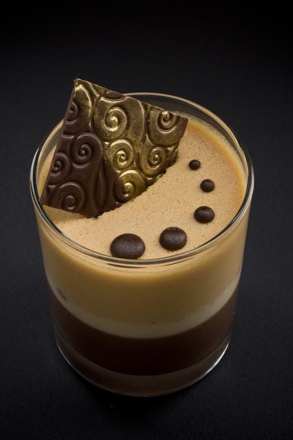 热奶咖啡点心 免版税库存图片