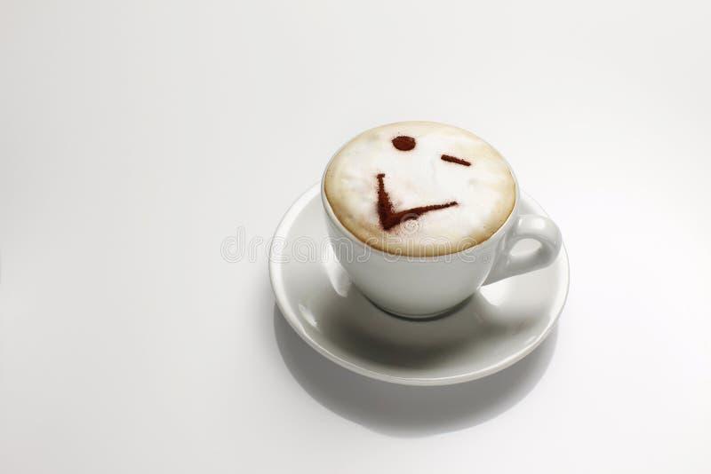 热奶咖啡表面 库存图片