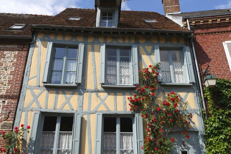 热尔伯鲁瓦村庄,法国 库存照片