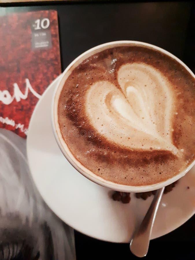 热巧克力心脏 库存照片