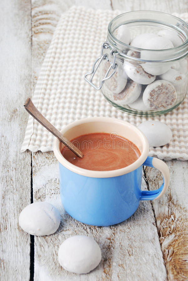 热巧克力用曲奇饼 免版税库存图片