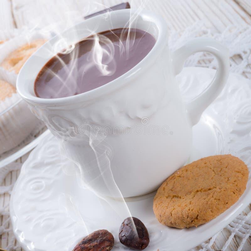 热巧克力用曲奇饼 库存图片