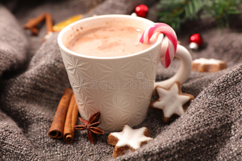 热巧克力的圣诞节 库存图片