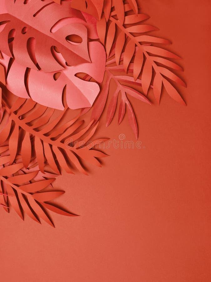 热带五颜六色的叶子框架 图库摄影