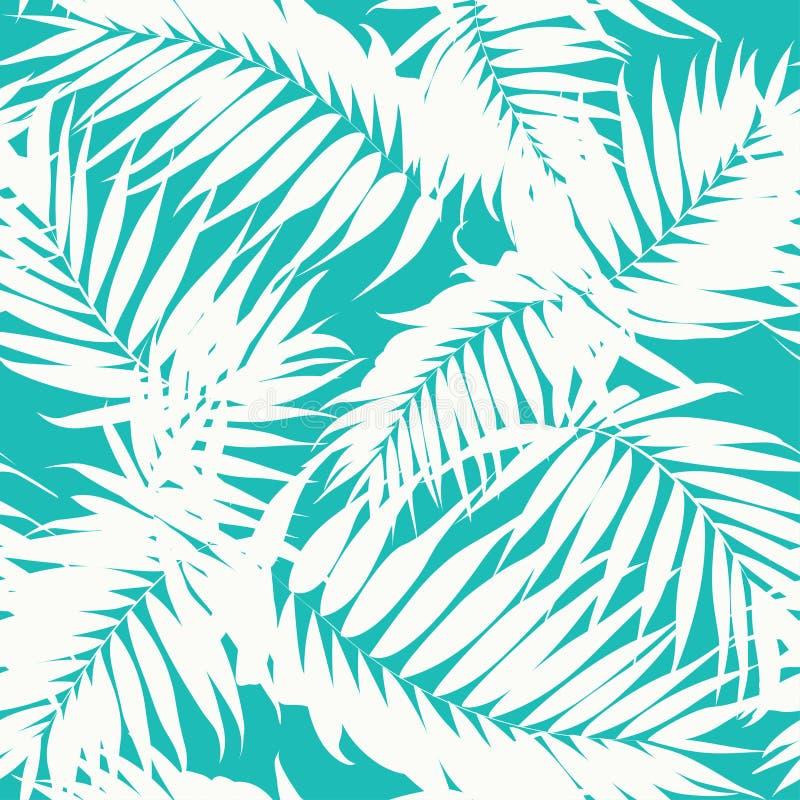 热带伪装样式密林树叶子 向量例证