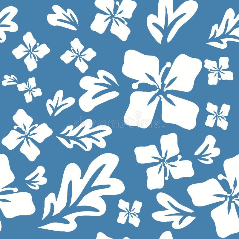 热带夏天开花无缝的样式 库存例证