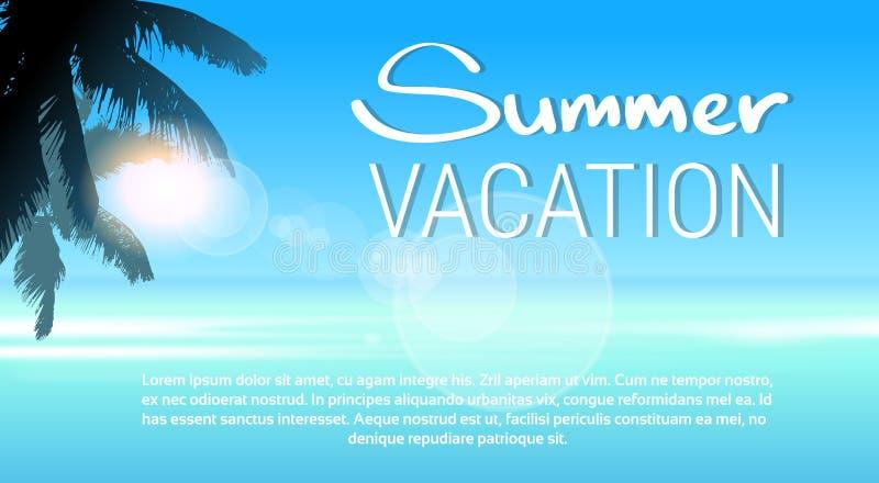 热带天堂海岛棕榈树太阳海滩暑假蓝天 皇族释放例证