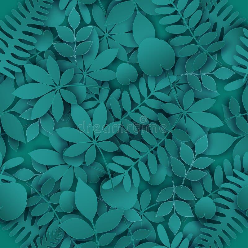 热带密林时髦无缝的样式 库存例证