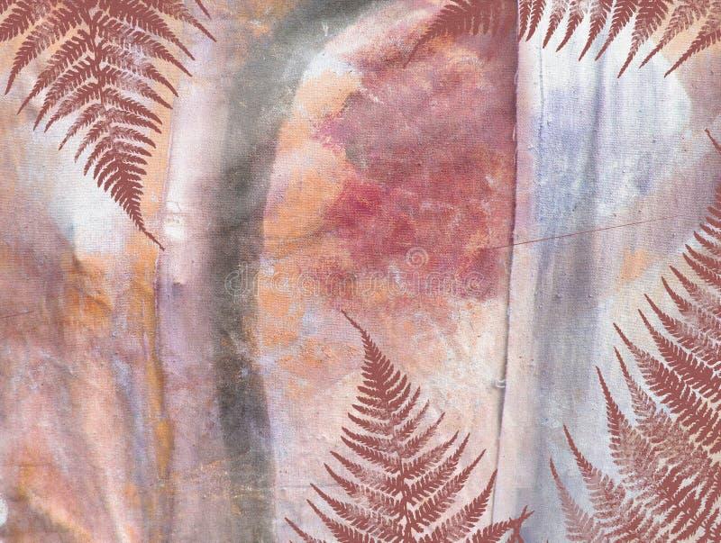热带密林花卉难看的东西样式 库存例证