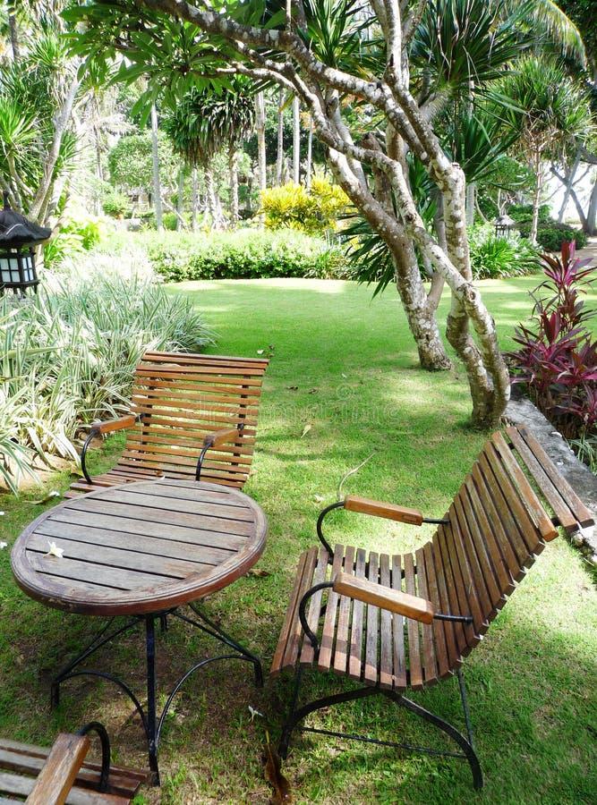 热带庭院的手段 免版税库存图片