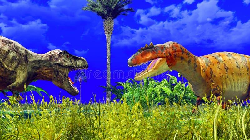 热带恐龙公园 库存照片