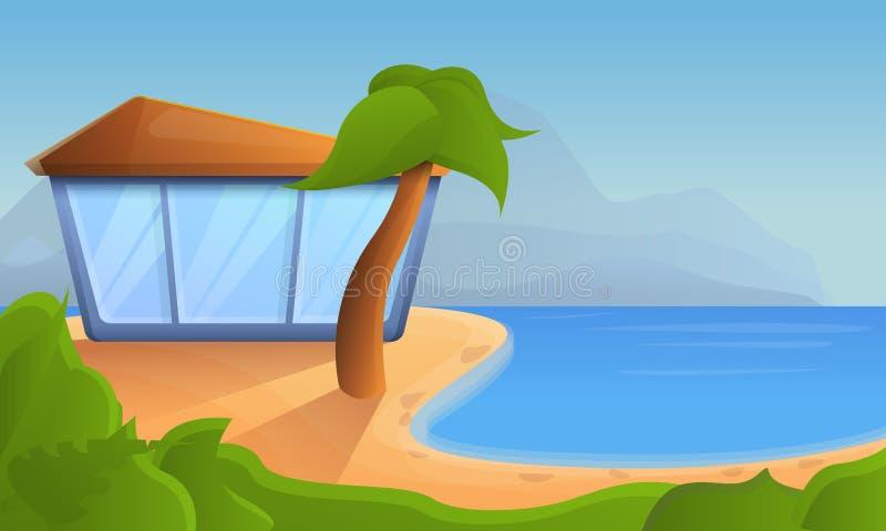 热带手段概念背景,动画片样式 皇族释放例证