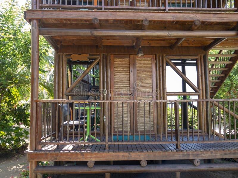 热带手段Luxry旅馆小屋,旅行 免版税库存图片