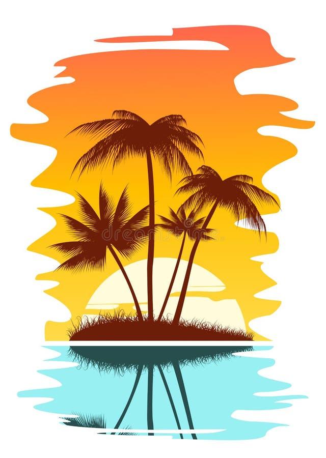 热带抽象的背景 皇族释放例证