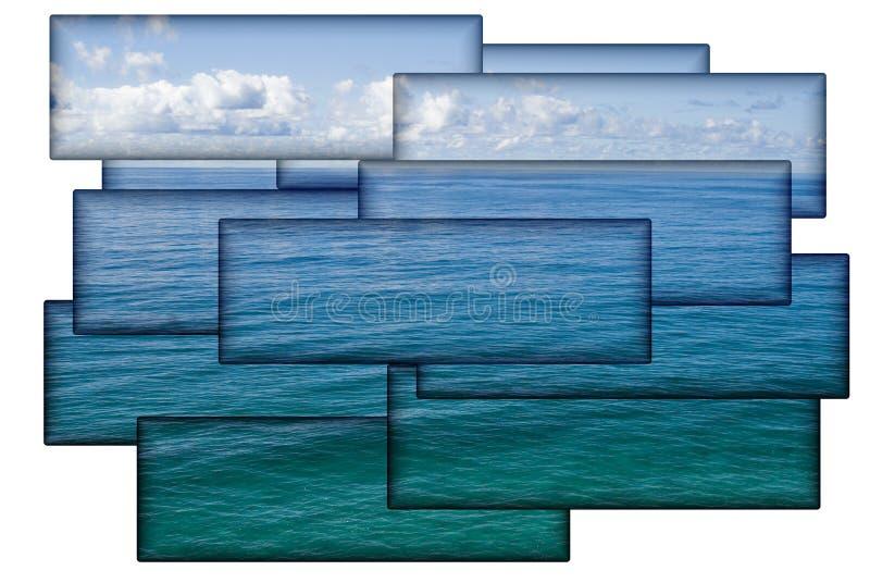 热带拼贴画的海洋 免版税库存图片