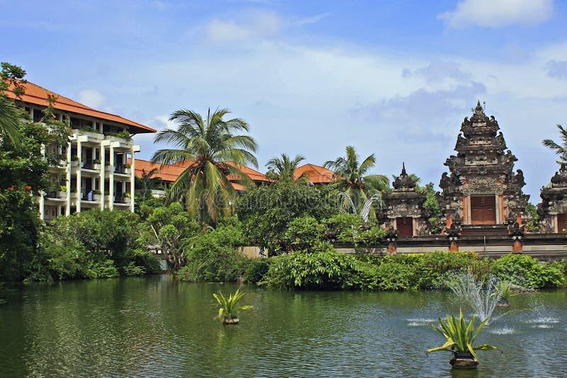 热带旅馆在巴厘岛,印度尼西亚 免版税库存照片