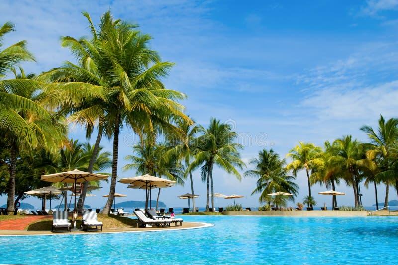 热带旅馆 库存照片