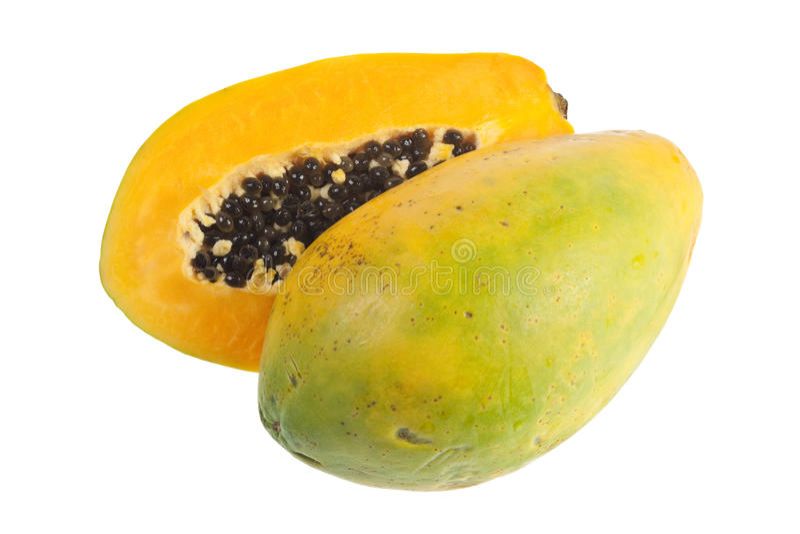 热带果子的番木瓜 免版税库存照片
