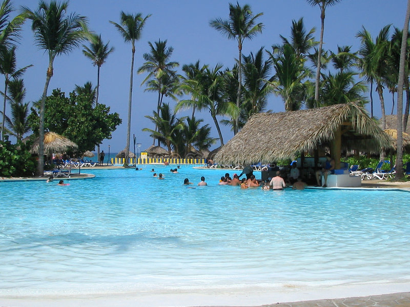 热带棒的池 图库摄影