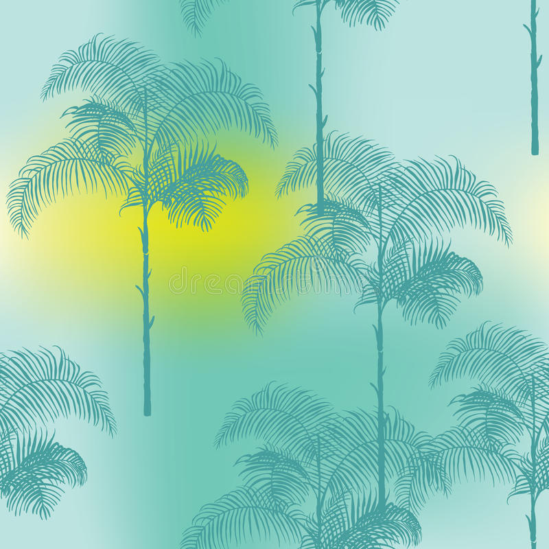 热带棕榈树背景 向量例证