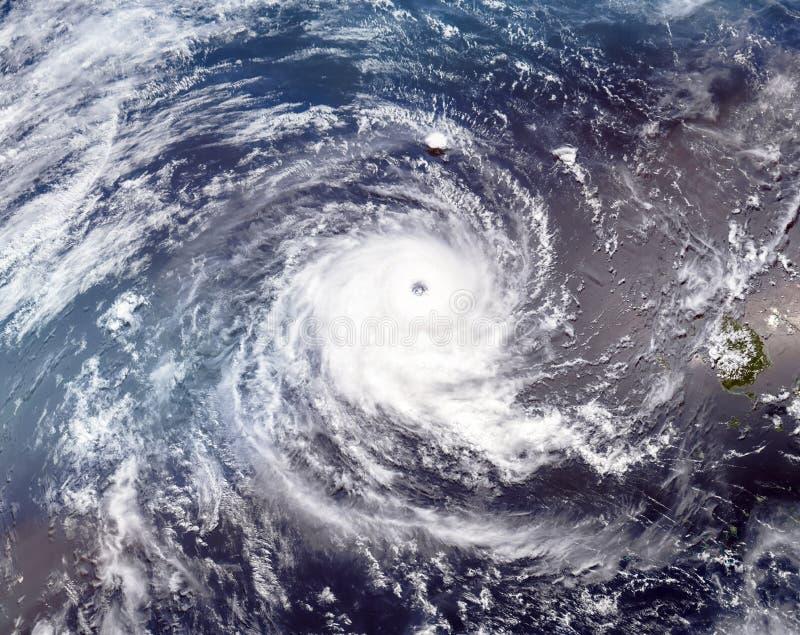 热带气旋威尔玛 库存照片