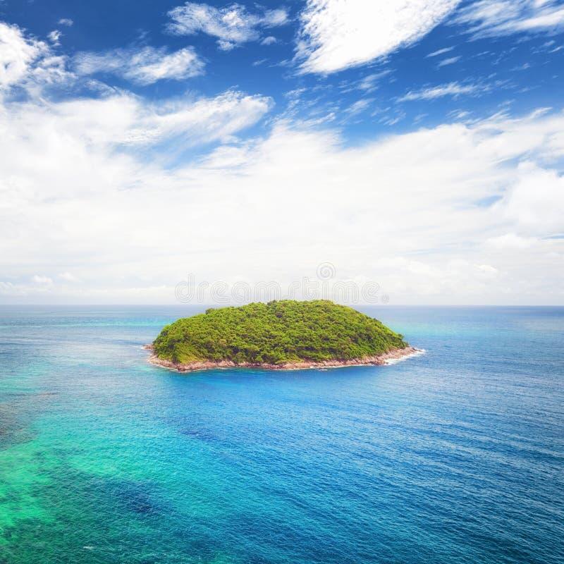 热带海岛旅行自然风景 免版税库存照片