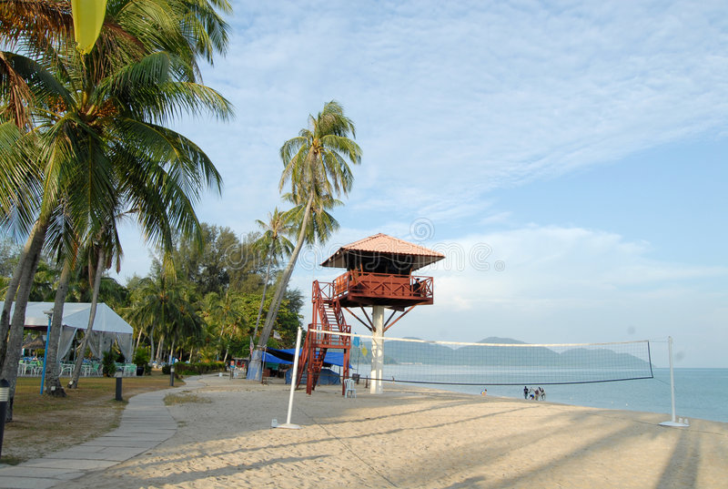 热带海岛的场面 库存照片