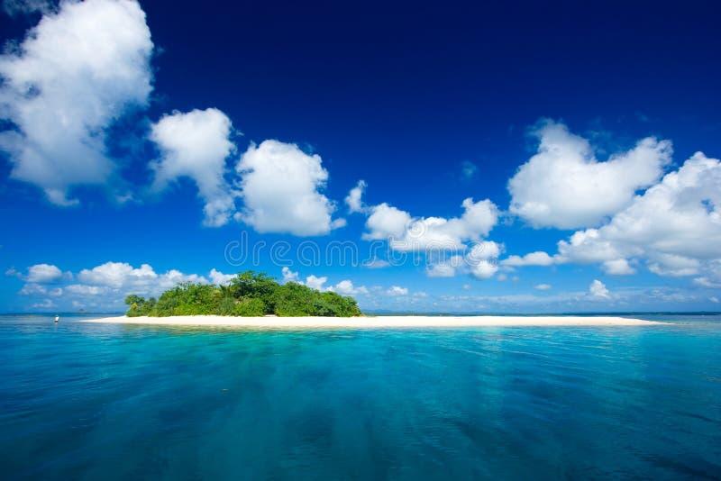 热带海岛的天堂 库存图片