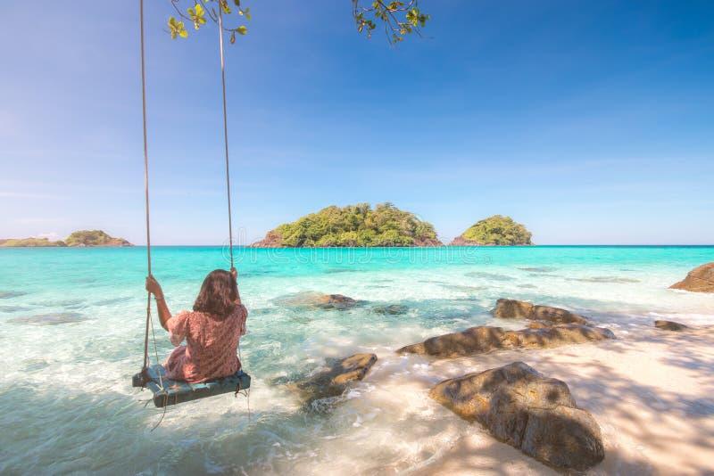 热带海岛, Trat群岛,泰国夏季 免版税库存图片