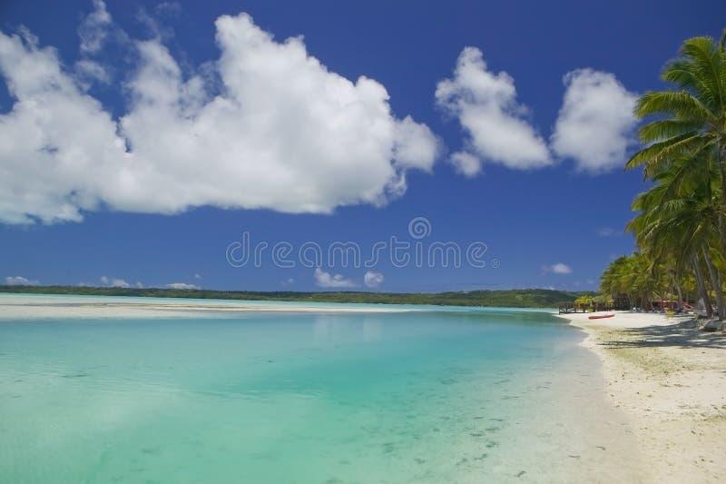 热带海滩梦想的天堂 库存照片