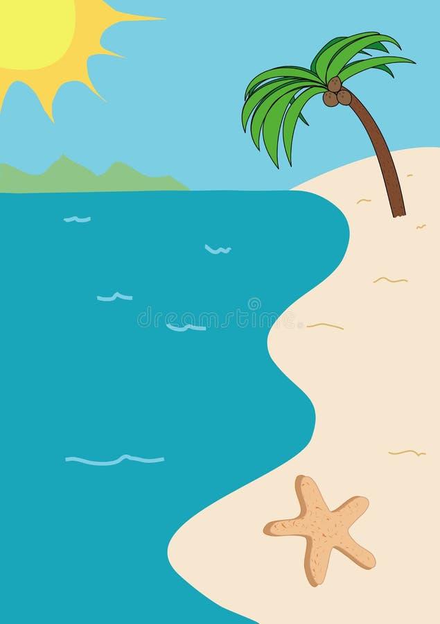 热带海滩的例证 库存例证
