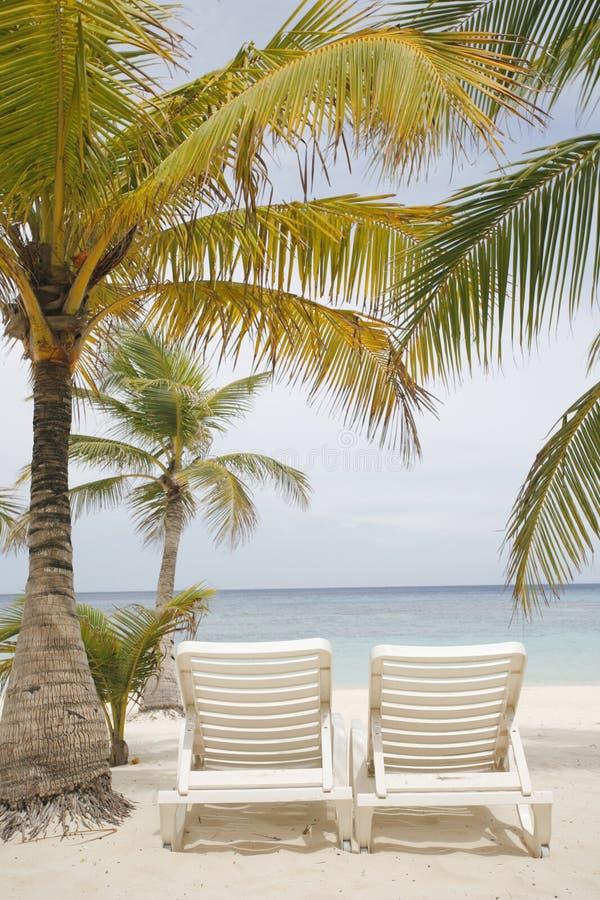 热带海滩的场面 库存照片