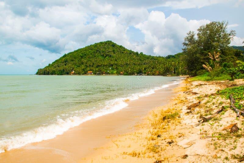 热带海滩轰隆Po,酸值苏梅岛海岛,泰国 图库摄影
