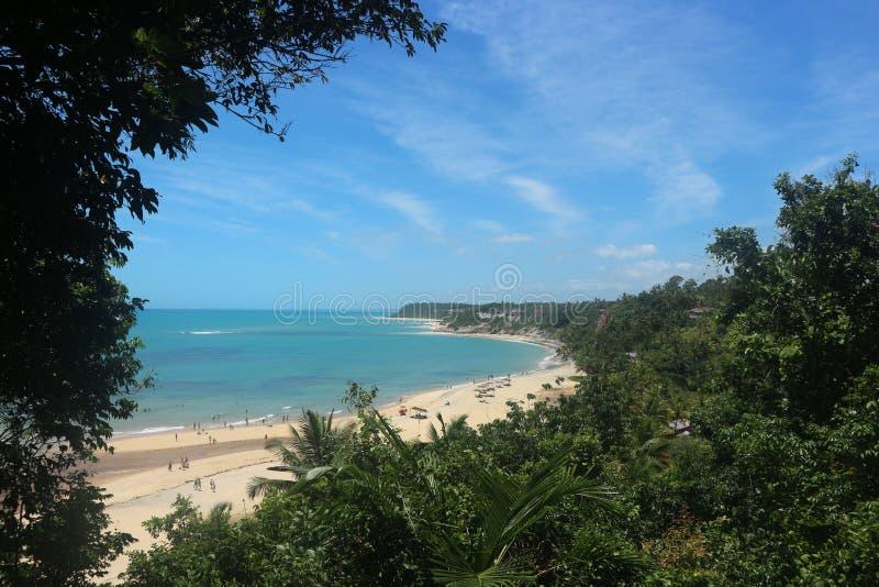 热带海滩风景概要 图库摄影