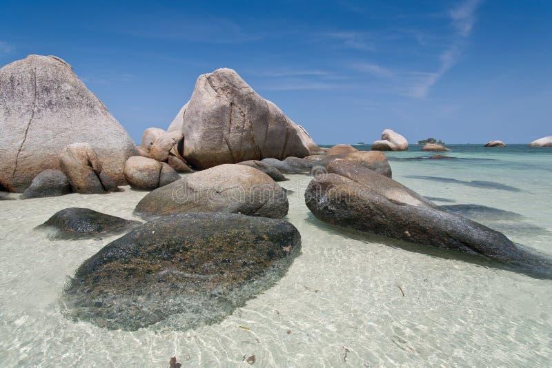 热带海滩在印度尼西亚, Bintan 库存图片