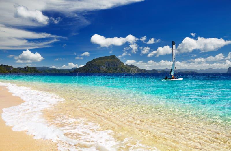 热带海滩,菲律宾 图库摄影