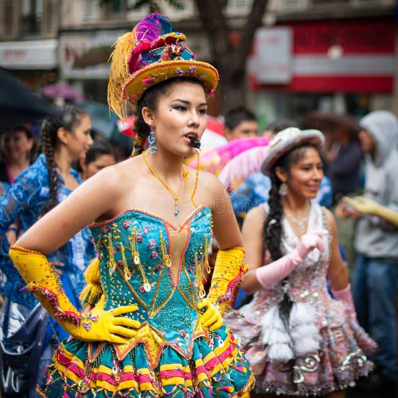 热带狂欢节在巴黎 图库摄影